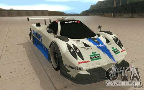 Pagani Zonda Racing Edit for GTA San Andreas back view