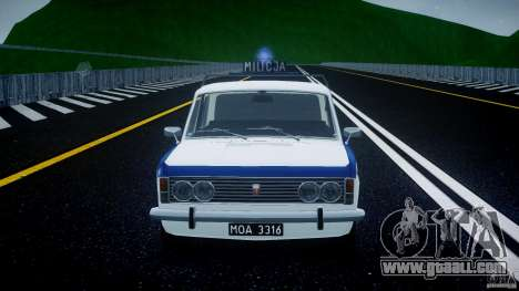 Fiat 125p Polski Milicja for GTA 4 upper view