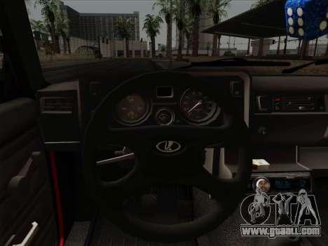 VAZ 21054 for GTA San Andreas bottom view