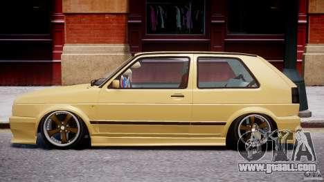 Volkswagen Golf MK2 Tuning for GTA 4 back left view