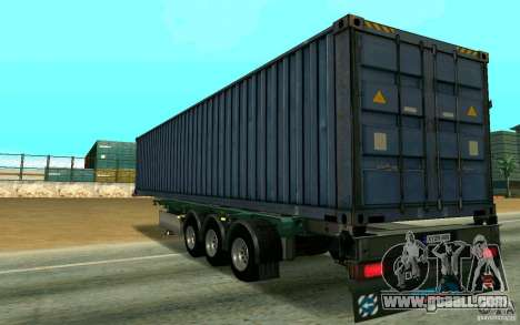 Trailer Schmitz for GTA San Andreas back left view