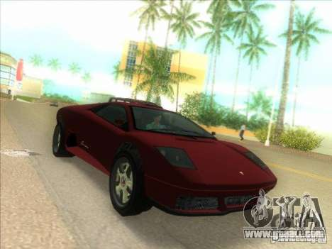Infernus from GTA IV for GTA Vice City left view