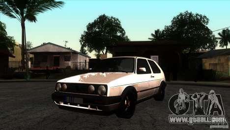 VW Golf 2 for GTA San Andreas