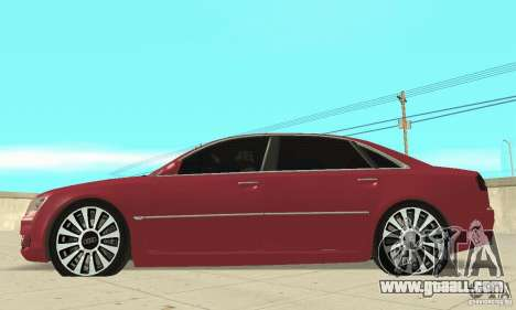Audi A8L 4.2 FSI for GTA San Andreas back left view