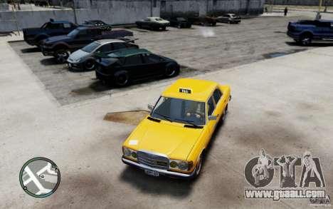 Mercedes-Benz 230 E Taxi for GTA 4 left view