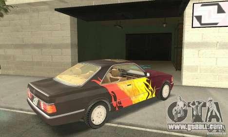 Mercedes-Benz W126 560SEC for GTA San Andreas interior