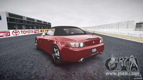 Honda S2000 2002 v2 for annealing for GTA 4 inner view
