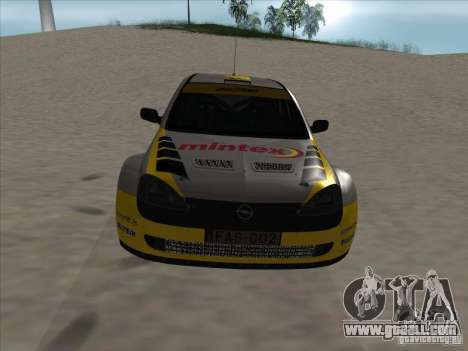 Opel Rally Car for GTA San Andreas inner view