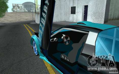 Baby blue Infernus for GTA San Andreas side view
