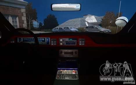 Chevrolet Caprice 1991 Police for GTA 4 interior
