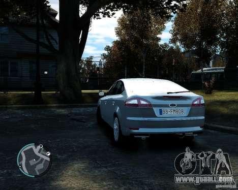 Ford Mondeo 2009 v1.0 for GTA 4 back left view