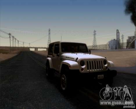 Jeep Wrangler Rubicon for GTA San Andreas right view