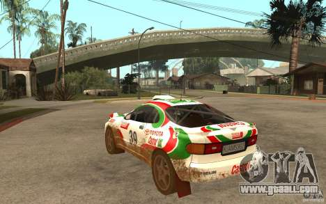 Toyota Celica GT-Four for GTA San Andreas back left view