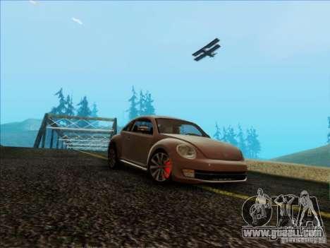 Volkswagen Beetle Turbo 2012 for GTA San Andreas