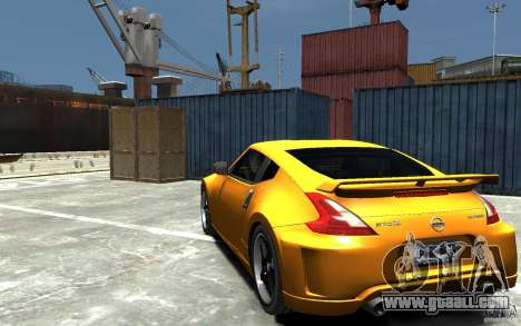 Nissan 370z Tuned Final for GTA 4 back left view