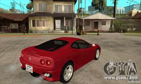 Ferrari 360 Modena for GTA San Andreas right view