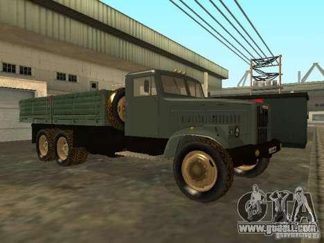 KrAZ truck flatbed v. 2 for GTA San Andreas