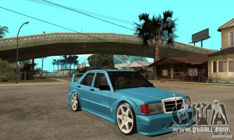 Mercedes-Benz w201 190 2.5-16 Evolution II for GTA San Andreas back view
