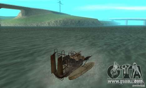 HL2 Airboat for GTA San Andreas left view