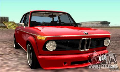BMW 2002 Turbo for GTA San Andreas interior