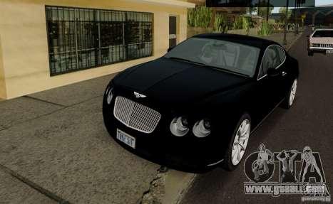 Bentley Continental GT V1.0 for GTA San Andreas