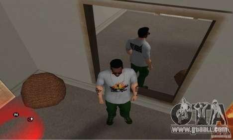 Green day t-shirt for GTA San Andreas third screenshot