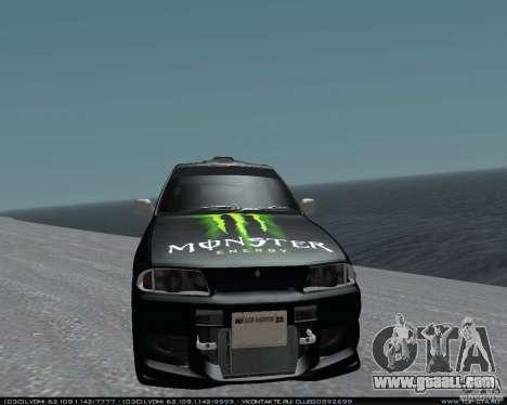 Nissan Skyline R32 GT-R + 3 vinyl for GTA San Andreas back view