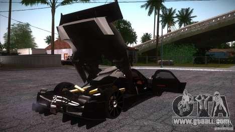 Pagani Zonda R for GTA San Andreas bottom view