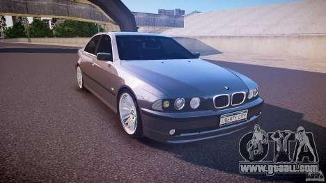 BMW 530I E39 stock white wheels for GTA 4 back view