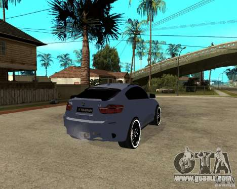 BMW X6 M HAMANN for GTA San Andreas back left view