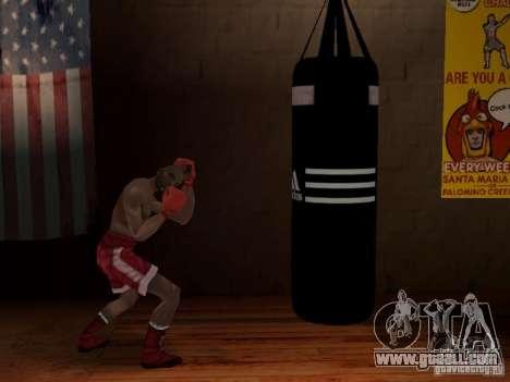 New boxing punching bag for GTA San Andreas third screenshot