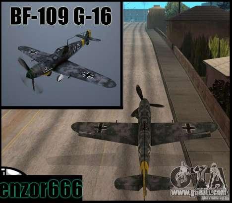 BF-109 G-16 for GTA San Andreas