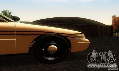 Ford Crown Victoria Tennessee Police for GTA San Andreas right view