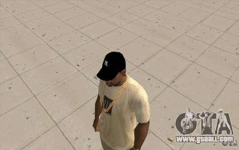 Cap newyorkyankiys black for GTA San Andreas