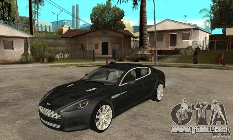 Aston Martin Rapide 2010 for GTA San Andreas