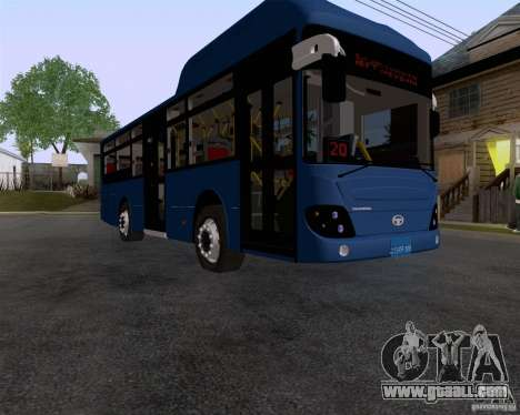 Daewoo Bus BAKU for GTA San Andreas right view