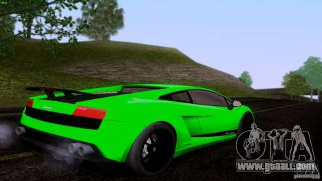 Lamborghini Gallardo LP570-4 Superleggera for GTA San Andreas back left view