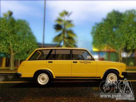 VAZ 2104 Taxi for GTA San Andreas back view