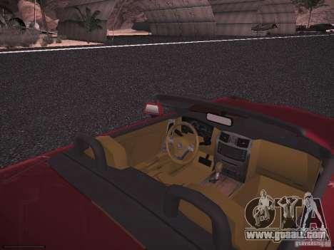 Cadillac XLR 2006 for GTA San Andreas back view