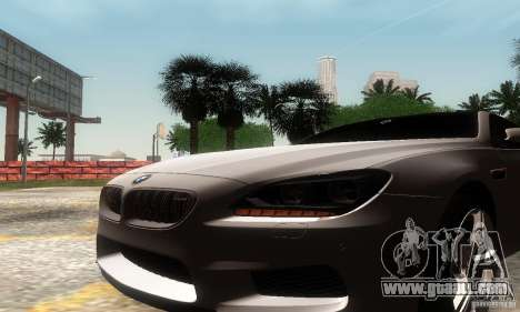 BMW M6 Coupe 2013 for GTA San Andreas right view