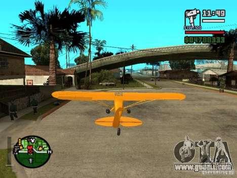 Piper J-3 Cub for GTA San Andreas back left view