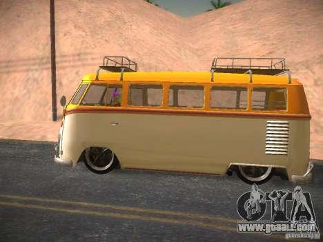 Volkswagen Type 2 Custom for GTA San Andreas inner view