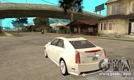 Cadillac CTS-V 2009 v2.0 for GTA San Andreas back left view