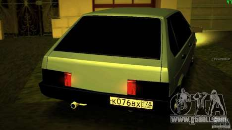 VAZ 2109 Light Tuning for GTA San Andreas back left view