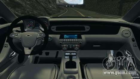 Chevrolet Camaro ZL1 2012 v1.0 Flames for GTA 4 back view