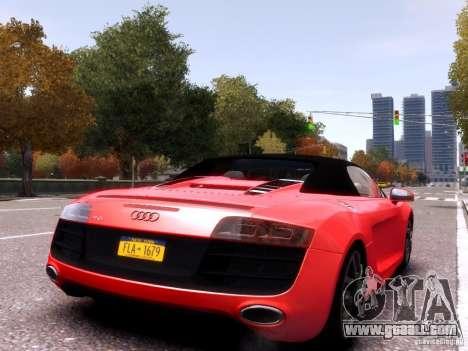 Audi R8 Spyder 5.2 FSI quattro V4 EPM for GTA 4 left view