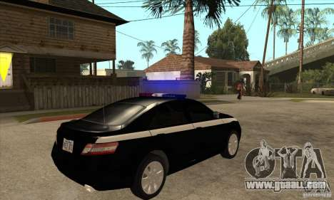 Toyota Camry 2010 SE Police RUS for GTA San Andreas right view