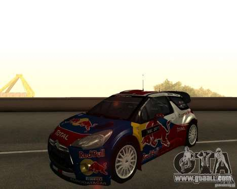 Citroen DS3 WRC for GTA San Andreas