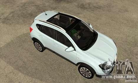 Nissan Qashqai 2011 for GTA San Andreas inner view