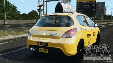 Peugeot 308 GTi 2011 Taxi v1.1 for GTA 4 back left view